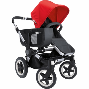 Bugaboo Donkey Compact Fold Mono Stroller in Black/Red