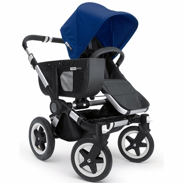 Bugaboo Donkey Compact Fold Mono Stroller in Black/Royal Blue