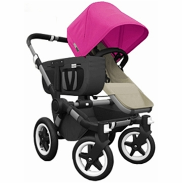 Bugaboo Donkey Compact Fold Mono Stroller in Sand/Pink