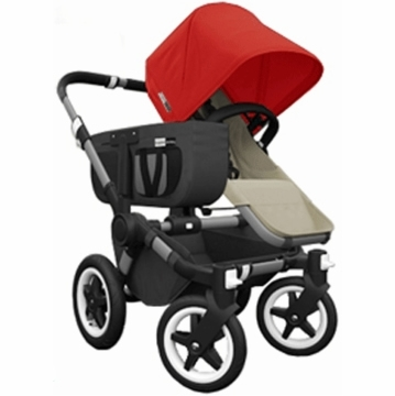 Bugaboo Donkey Compact Fold Mono Stroller in Sand/Red