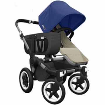 Bugaboo Donkey Compact Fold Mono Stroller in Sand/Royal Blue