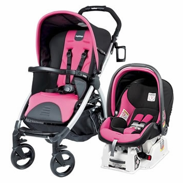 Peg Perego Book & Viaggio Travel System - Fuschia