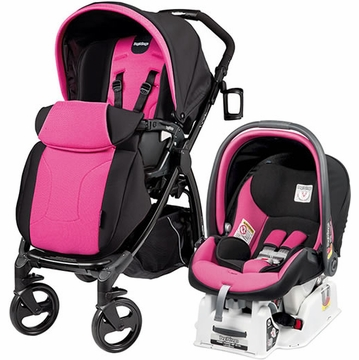 Peg Perego Book Plus & Viaggio Travel System - Fuschia