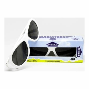 Junior Babiator Sunglasses - Wicked White (1-3 Years)
