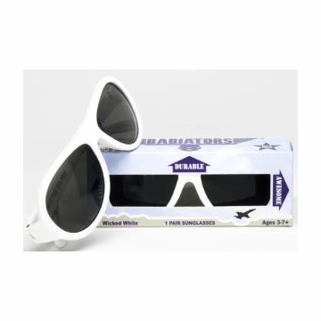 Classic Babiator Sunglasses -Wicked White (3+ Years)