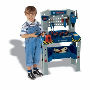 Theo Klein Bosch Toy Adjustable Height Workbench with Sound