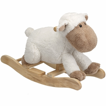 Charm Company White Sheep Rocker
