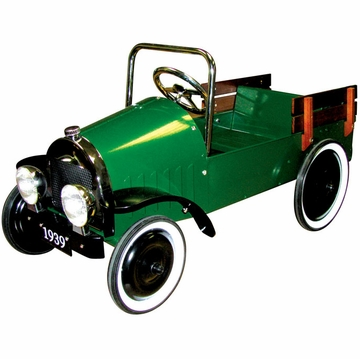 Charm Company Classic Green Jalopy Pedal Pick Up Truck