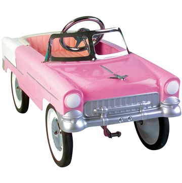 Charm Company 55 Classic Pink Metal Pedal Car