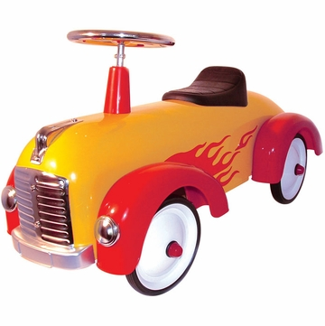 Charm Company Speedster Hot Dog (Yellow with Red Flames)