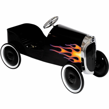 Charm Company 34 Classic Black Hot Rod Metal Pedal Car