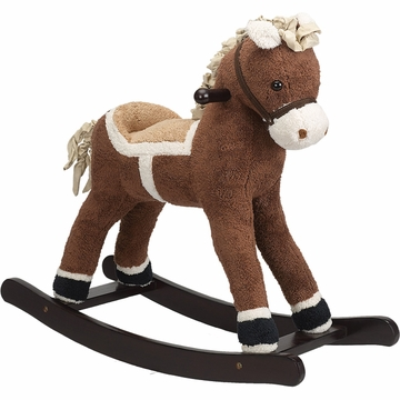 Charm Company Dark Brown Rocking Horse