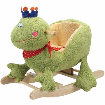 "Charm Company ""Charming"" Frog with Crown Rocker"