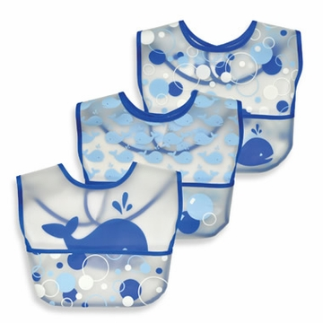 iPlay Waterproof Pocket Bib 3pk - Whales (Stage 3)