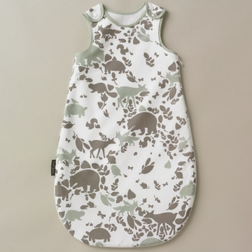 DwellStudio Woodland Tumble Mocha Night Sack - Flannel
