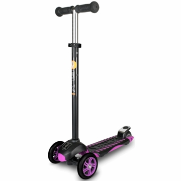 The YBIKE GLX PRO Scooter in Black/Purple