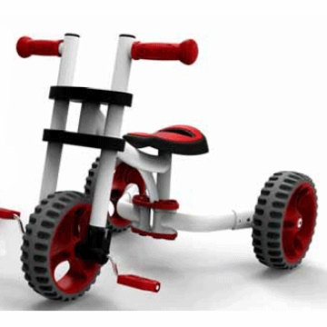 The YBIKE Evolve Trike in White/Red