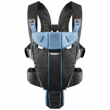 BabyBj�rn Miracle Baby Carrier - Black/Light Blue