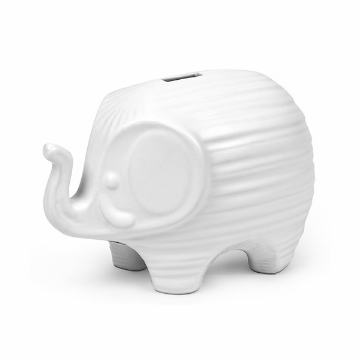 Jonathan Adler Elephant Bank - White