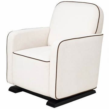 Babyletto Kyoto Glider - Ecru with Mocha Piping
