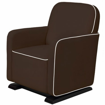Babyletto Kyoto Glider - Mocha with Ecru Piping