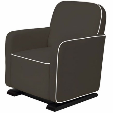 Babyletto Kyoto Glider - Slate with Ecru Piping