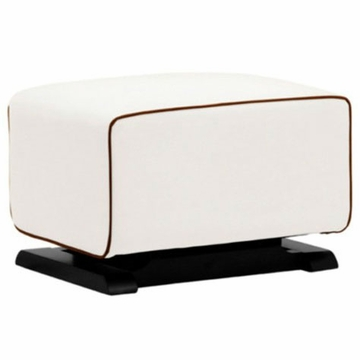 Babyletto Kyoto Ottoman - Ecru with Mocha Piping
