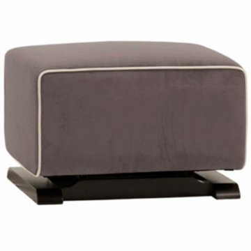 Babyletto Kyoto Ottoman - Slate with Ecru Piping