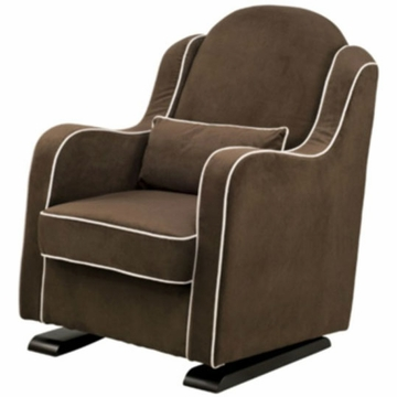 Babyletto Nara Glider - Mocha with Ecru Piping