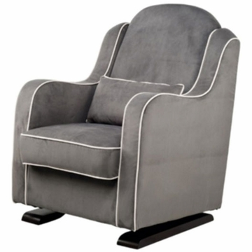 Babyletto Nara Glider - Slate with Ecru Piping