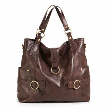 Timi & Leslie Hannah Designer Diaper Bag in Cocoa Brown