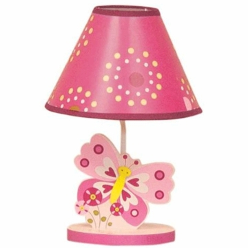 Bedtime Originals Pink Butterfly Lamp with Shade & Bulb