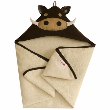 3 Sprouts Hooded Towel in�Warthog
