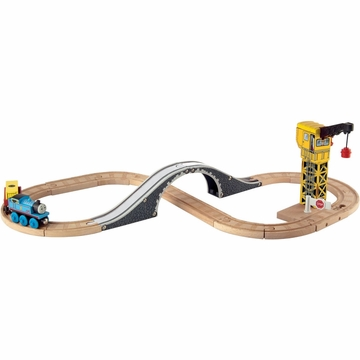 Thomas & Friends Wooden Railway Crane & Cardo Figure 8 Set
