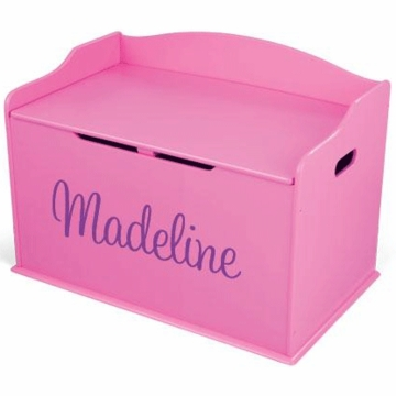 KidKraft Personalized  Austin Toy Box in Bubblegum