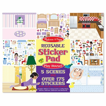Melissa & Doug Play House! Reusable Sticker Pad