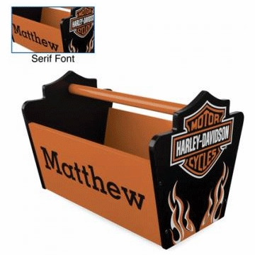 KidKraft Personalized  Harley Davidson Toy Caddy