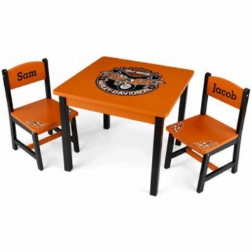 KidKraft Personalized  Harley Davidson Table & Chair Set