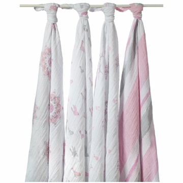 Aden + Anais Muslin Wraps 4-Pack - For The Birds