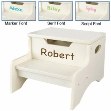 KidKraft Personalized  Step 'N Store in Vanilla