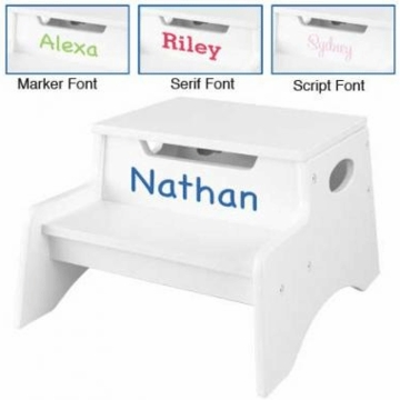 KidKraft Personalized  Step 'N Store in White