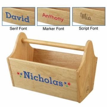 KidKraft Personalized  Toy Caddy in Natural