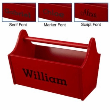 KidKraft Personalized  Toy Caddy in Red