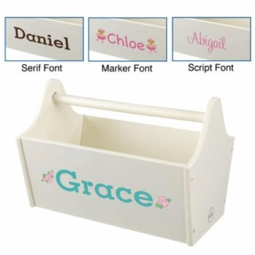 KidKraft Personalized  Toy Caddy in Vanilla