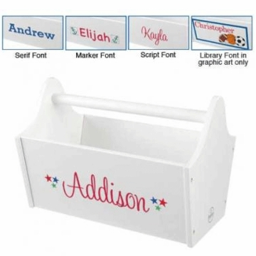 KidKraft Personalized  Toy Caddy in White