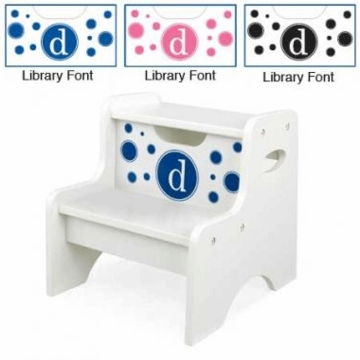 KidKraft Personalized  Two Step Stool White