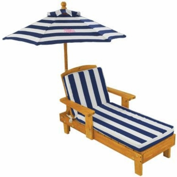 KidKraft Personalized Outdoor Chaise with Umbrella