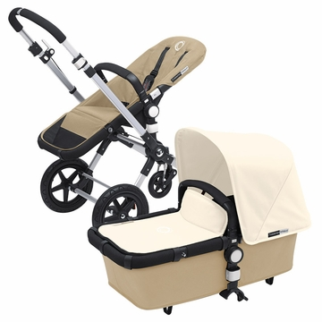 Bugaboo Cameleon 3 Bundle - Sand Base / Off White Fabric Set