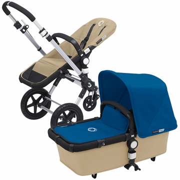 Bugaboo Cameleon 3 Bundle - Sand Base / Royal Blue Fabric Set