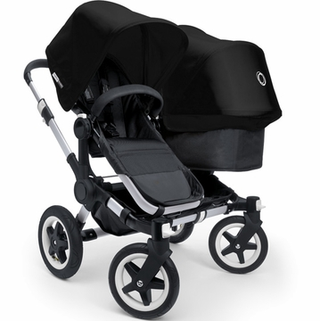 Bugaboo Donkey Compact Fold Duo Stroller in Black/Black
